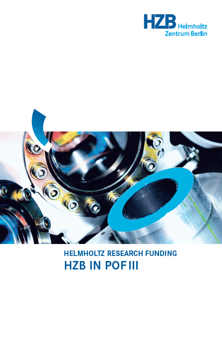 PDF: HZB in POF III - Helmholtz Research Funding