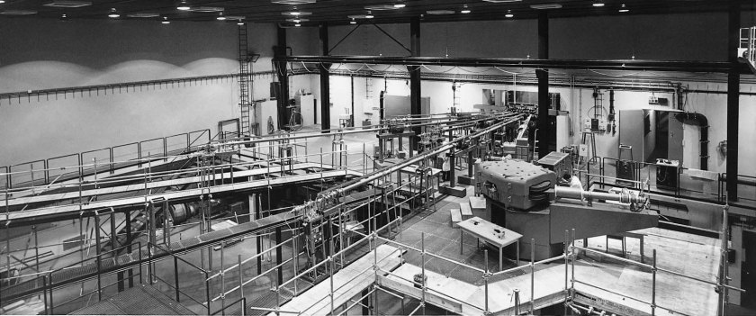 Measuring stations at the van de Graaff accelerator - enlarged view