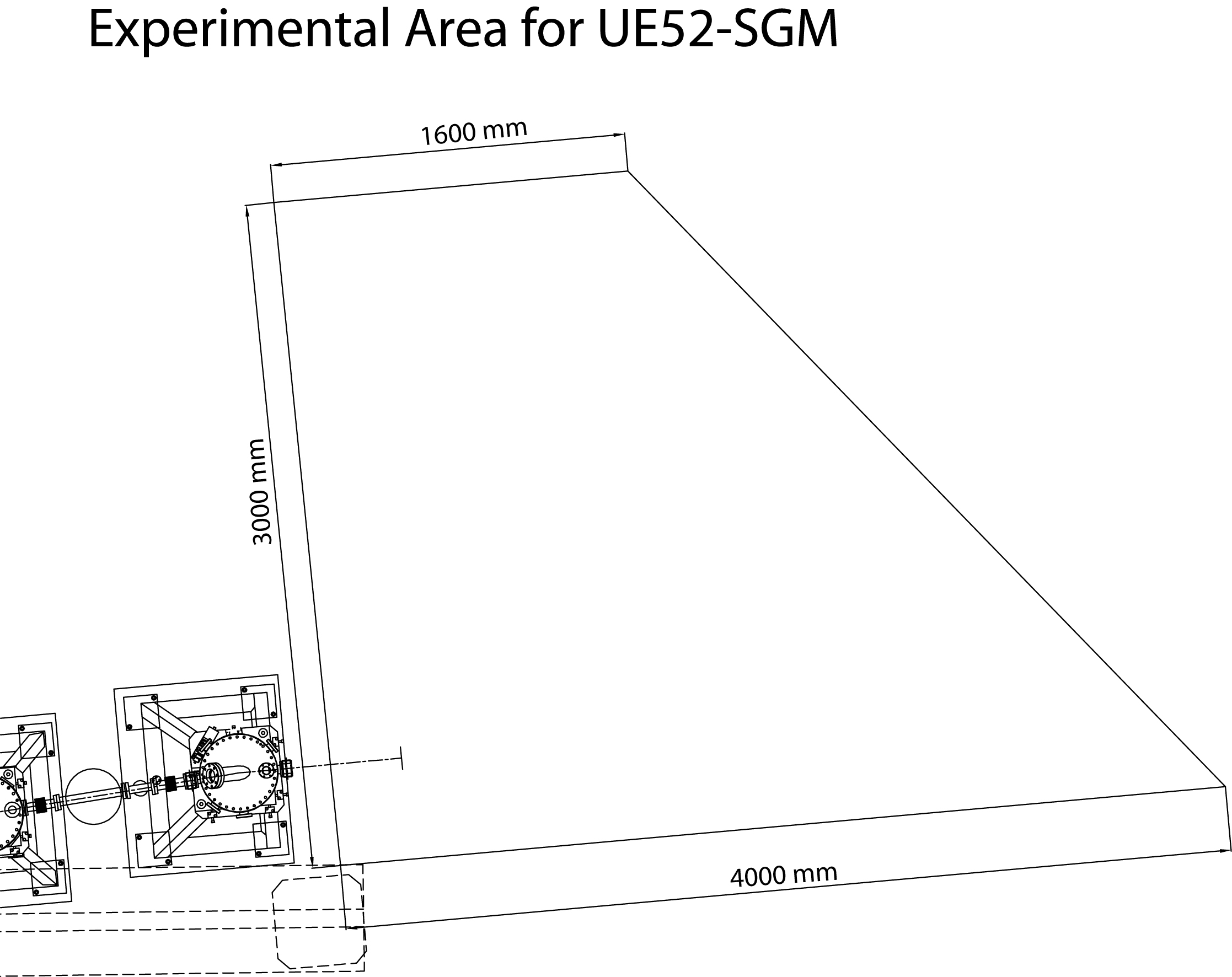 Experimental Area for UE52-SGM