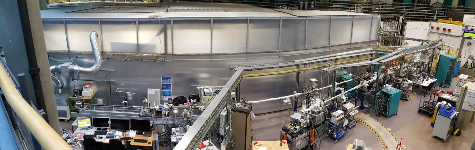 View on the beamline and X-ray microscope (new location at L06)
