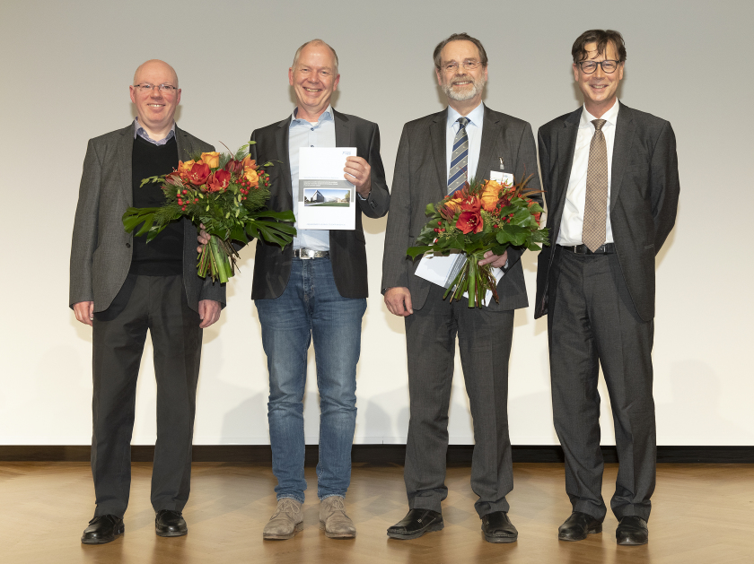 Laudator Prof. Gerd Schneider, award winners Dr. Christian David and Prof. Alexei Erko and Prof. Mathias Richter, Friends of HZB, (From left to right).
