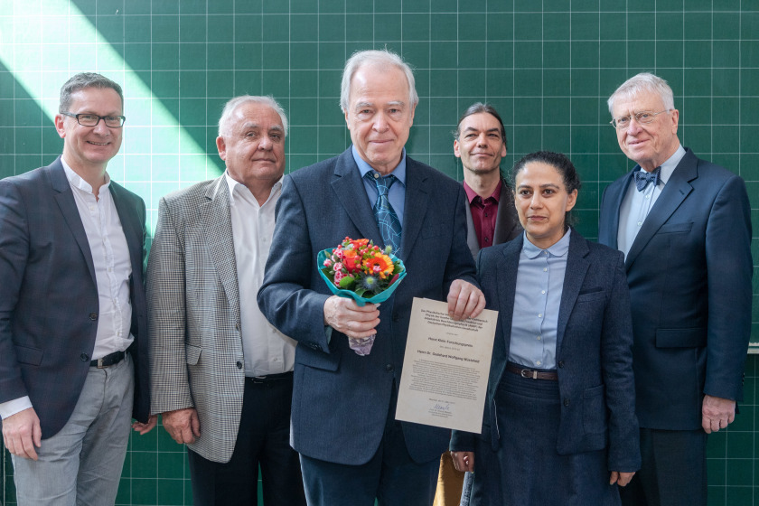 The prize was awarded on 21 March 2019 at the Spring Conference of the Deutsche Physikalische Gesellschaft by the Physikalischer Verein Frankfurt, the Department of Physics of the Goethe University Frankfurt and the Arbeitskreis Beschleunigerphysik (AKBP).