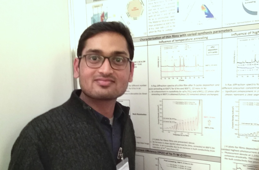 Bassi presented results on new phases in the quaternary Fe-Ti-W-O system for application as photoelectrocatalyst in light-assisted water splitting.