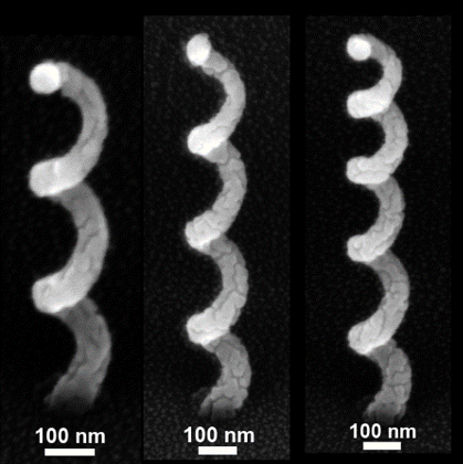 The nano-antennae werde produced in an electron microscope by direct electron-beam writing.