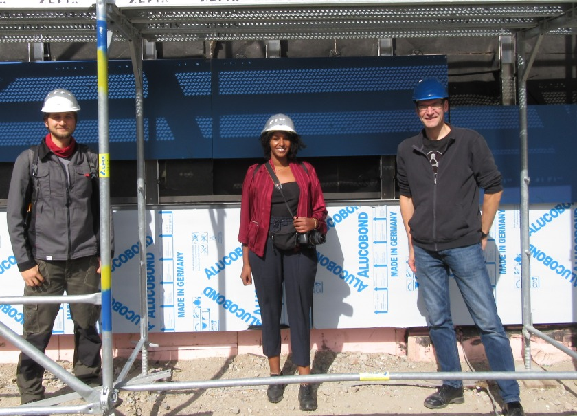 Regularly on site: Maximilian Riedel, PVcomB, Samira Aden, BAIP and project manager Dirk Mielke.