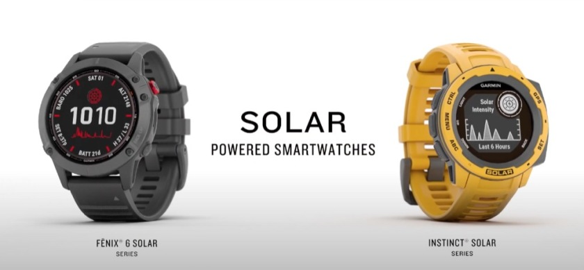 Garmin-Solar-Smartwatches use the transparent pv film to make use of solar energy.