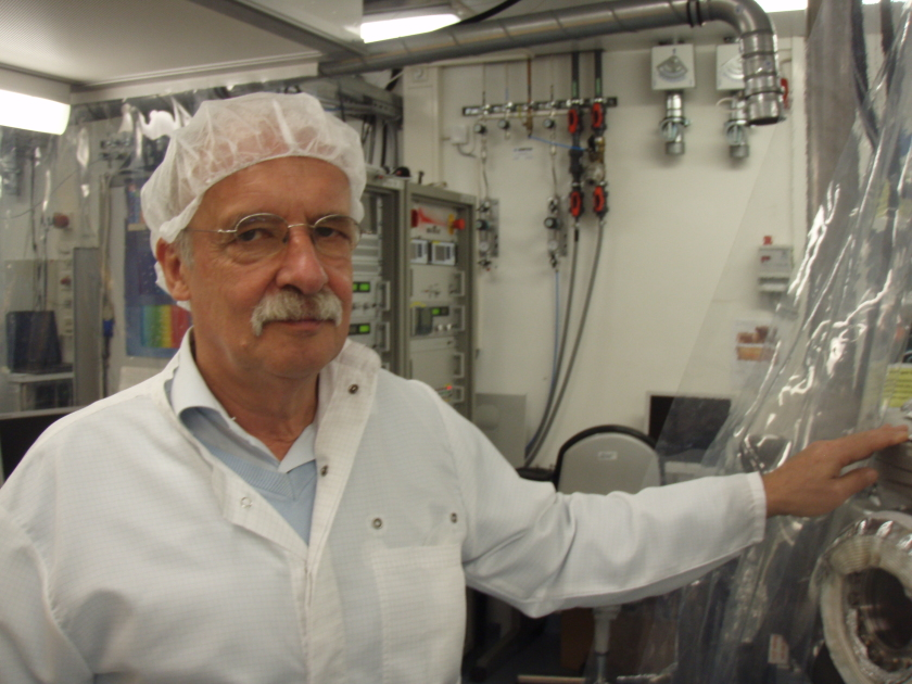 Prof. Dr. Hans-Werner Schock <br /> at Institute of Solar Energy Research. © HZB/F.Rott