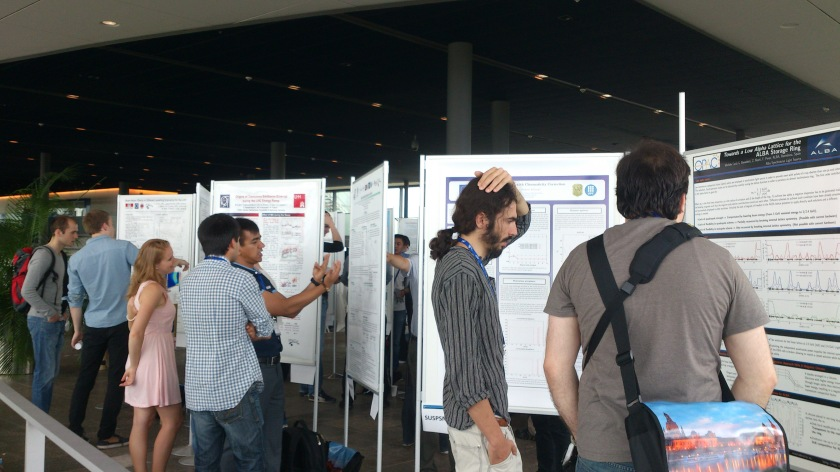 The graduate students Jens Vöker and Christoph Kunert received a IPAC grant and presented their work on a student poster sesson.
