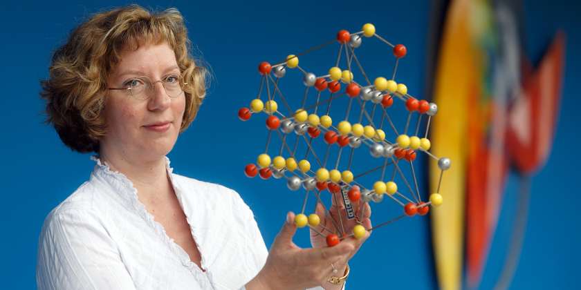 Susan Schorr is Head of the Department of Crystallography.