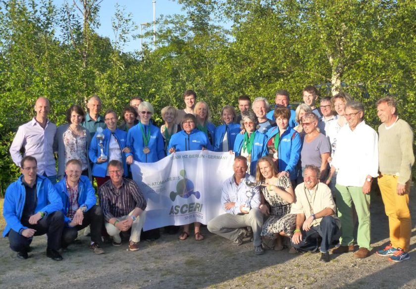 From the 5th to the 8th of June, 1,200 sports enthusiasts from 36 European research centres came to Mol, Belgium, for the Atomiade. The HZB team's trip was an outstanding success.