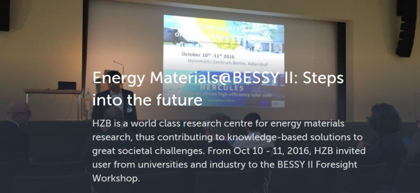 """Get an impression of the topics discussed during the Foresight BESSY II Workshop on <a href=""""https://storify.com/HZBde/energy-materials-bessy-ii-the-future"""">storify</a>."""