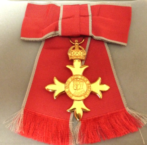 The medal Officer of the British Empire (OBE)