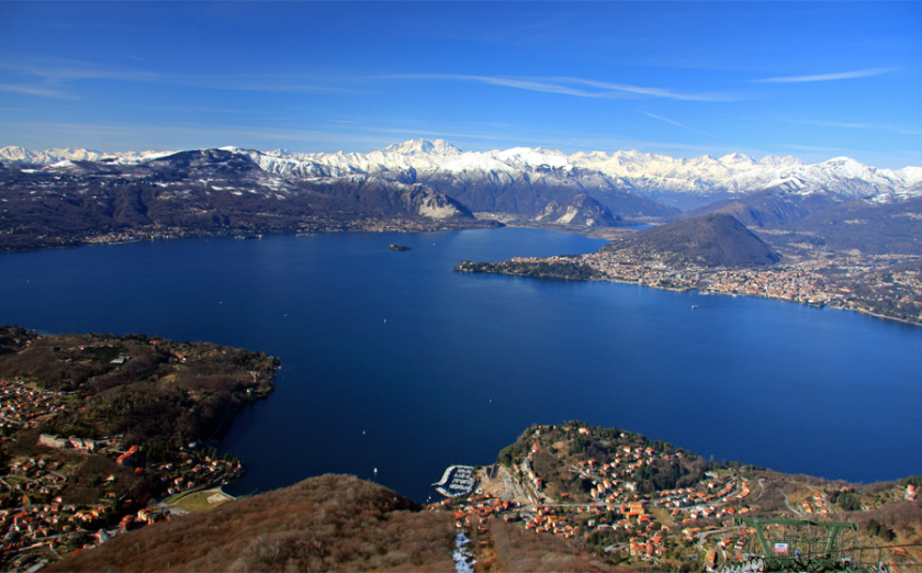 View over the Lago Maggiore