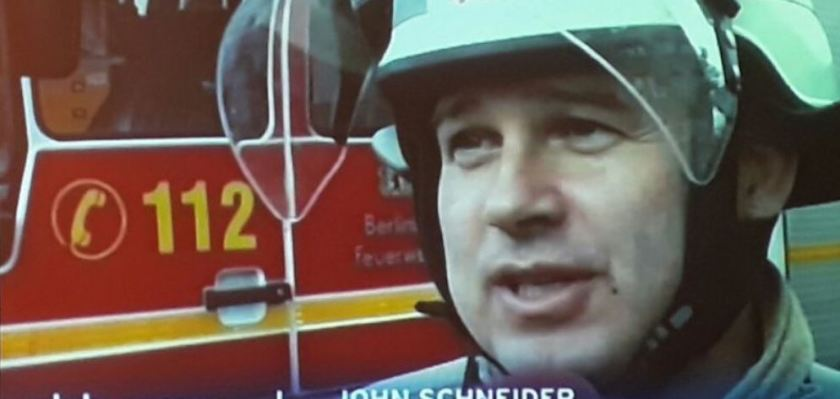 John Schneider is a volunteer at the Fire department in Berlin-Zehlendorf. During storm Xavier he was night and day working.
