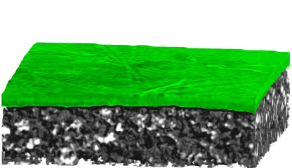 Tomography of a lithium electrode in its initial condition.