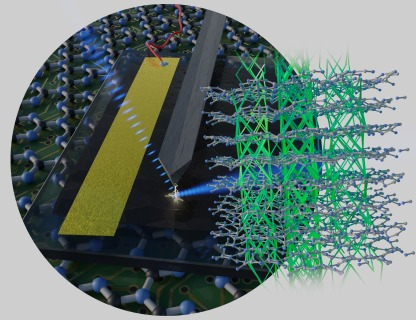 The illustration is alluding to the laser experiment in the background and shows the structure of TGCN.