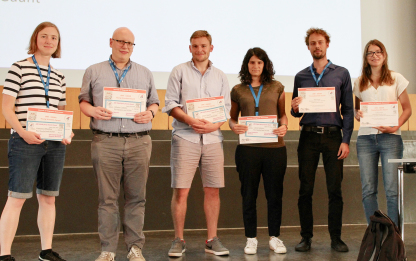 Silvio Künstner (2nd from right) was awarded with five other young researchers at the EUROISMAR 2019 conference.