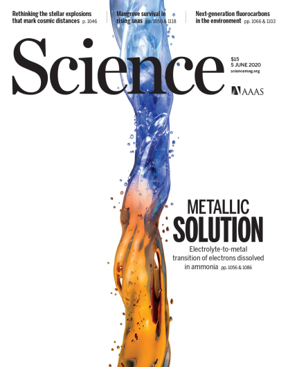 The publication made it onto the cover of the current issue of SCIENCE.