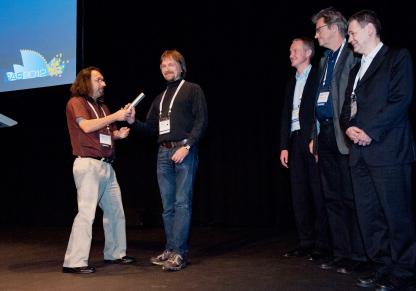 SAS 2012 chairman Elliot Gilbert officially passed the   torch to Daniel Clemens and members of the next   organisation committee.