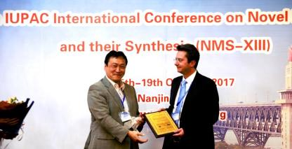 Auf der 13. IUPAC International Conference on Novel Materials and their Synthesis im Oktober, 2017 in Nanjing, China, wurde Prof. Norbert Koch für seine Forschung ausgezeichnet.