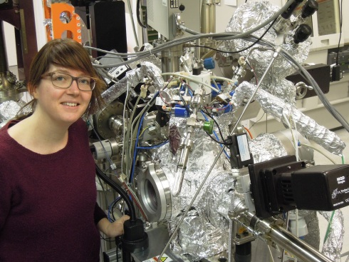 <p>Aafke Bronneberg in her lab at HZB Institute for Solar Fuels. Credit: HZB</p>