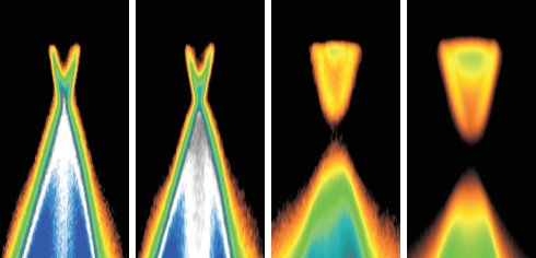 <p>The Bismut doping is enhanced from 0% (left) to 2.2% (right). Measurements at BESSY II show that this leads to increased bandgaps. Credit: HZB</p>