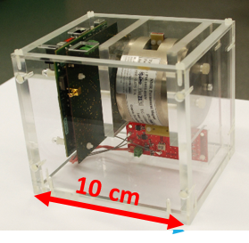 <p>ESR spectrometers usually require a lot of space. The ESR-on-a-chip fits a box 10 cm on a side. Credit: J. Anders</p>