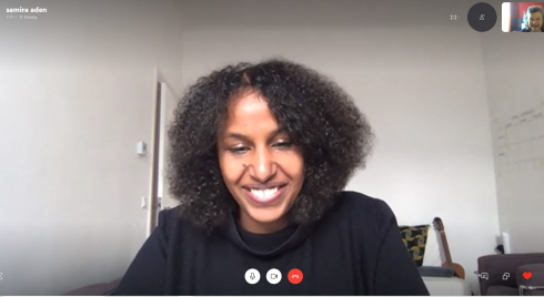 "<p>Her living room is now a ""co-working space"" for architect Samira Aden, who is working in the office for building integrated photovoltaics, BAIP, at HZB.</p>"