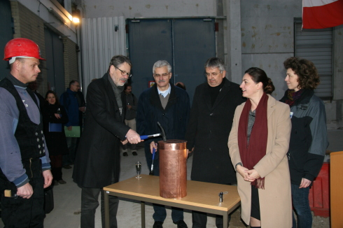 <p>The topping-out ceremony and relaying of the foundation<br />stone for the NEAT building were celebrated at the beginning<br />of December</p>
