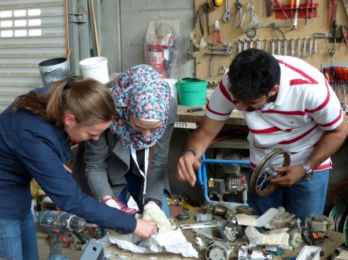 <p>Solar Solutions, hand made by the students. And they all work. </p>