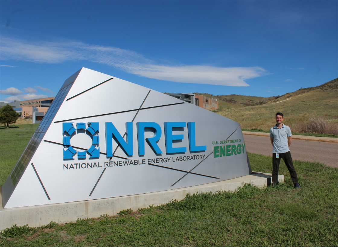 Raphael with the Research Abroad Program at NREL in Colorado