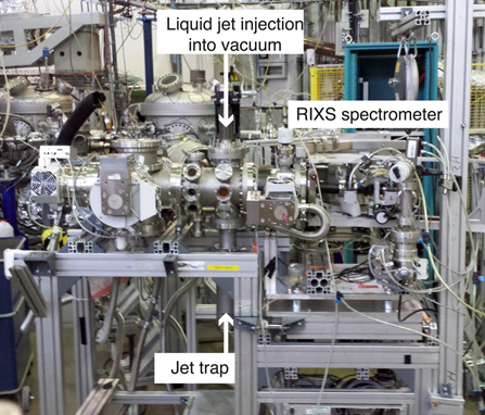 View of the Liquid flexRIXS endstation