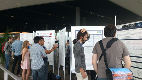 <p>The graduate students Jens Vöker and Christoph Kunert received a IPAC grant and presented their work on a student poster sesson.</p>