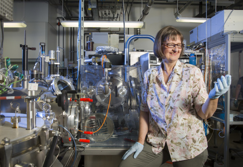 <p>Prof. Martha Lux-Steiner has been awarded by the European Association for Renewable Energy (EUROSOLAR) for her work and involvement in research and education with the German Solar Prize. Credit: Roland Horn / HZB</p>