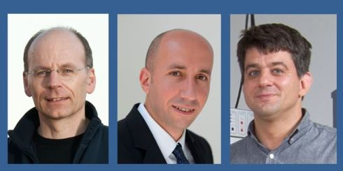 <p>Prof. Klaus Lips, Prof. Emad Aziz and Dr. Alexander Schnegg (f.l.t.r) have been awarded with adjunct professorships by Monash-University. Credit: HZB</p>