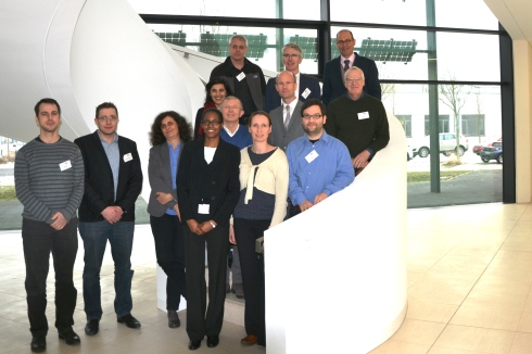 <p>Scientists from all participating organisations together with the project officers from FCH2 JU met in January 2017 to start off the project. Credit: J. Bierbaum/HZB</p>