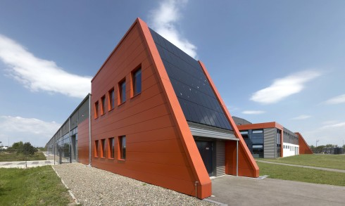 <p>Oxford PV – The Perovskite Company's industrial site in Brandenburg an der Havel, Germany where the company is working rapidly to transfer its advanced perovskite on silicon tandem solar cell technology to an industrial scale process. Credit: Oxford PV</p>